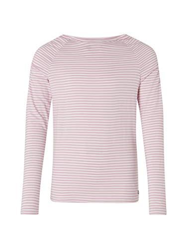 TOM TAILOR für Mädchen T-Shirts/Tops Langarmshirt mit Geraffter Schulterpartie Orchid Bouquet Purple, 164 - Orchid Bouquet Bekleidung