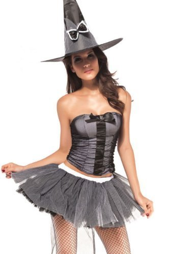 Pretty Potion Witch + Hat Ladies Halloween Fancy -