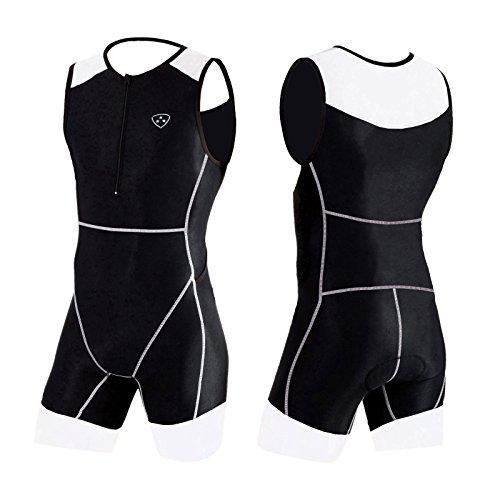 Hera International Traje macho trisuit, traje, triatlón. Performance Trisuit a un precio increíble (WHITE/BLACK, XL)