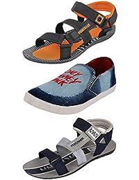 PU PEHCHAAN Men's Cool Looks Combo Pack Of 2 Sandals Shoe