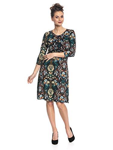 Vive Maria Damen Kleid My Lovely Boheme Dress, Mehrfarbig (Black Allover), 38 (Herstellergröße: M) (Schnitt-kurze Baumwolle-französischer)