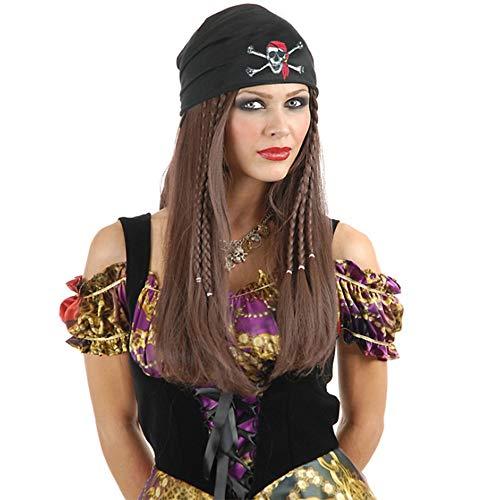 ing Pirat Geflochtene Kostüm Perücken Cosplay Synthetische Haar Für Frauen Männer Enthält Einen Hut ()