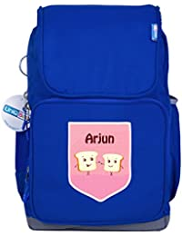 UniQBees Personalised School Bag With Name (Active Kids Medium School Backpack-Blue-Toasters)