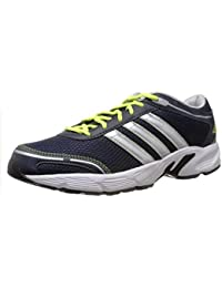 Adidas Men's Dark Navy, Metallic Silver And White Mesh Running Shoes (D70464)