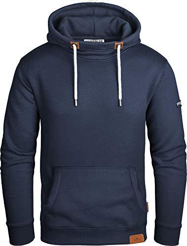Grin&Bear Herren Kapuzenpullover mit hohem Kragen Navy, L, GEC474 (Kleid Blend T-shirt)