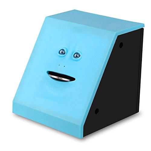 Preisvergleich Produktbild Onerbuy Neuheit Gesicht Bank Münze Lebensmittel Spar Bank Kinder sparen Geld Sammlung Piggy Bank (Blau)
