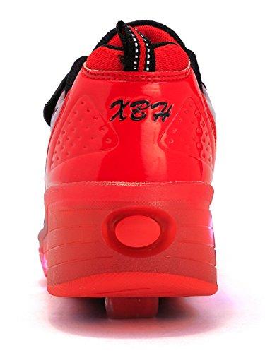 Cor As Neutro Patim Mr ang Luzes E Kuli art Preto Rodas Asa Calçam Piscando Com Mudança 7 De Rolo Sapatos Meninos Led Ajustável Meninas Rolo Sapatilhas Vermelho De Skate g6ExwW0S