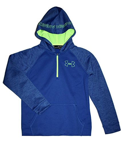 Under Armour Boys Youth Athletic STORM Fleece Hoodie Water Resistant (Small) Youth-fleece-sweatshirt