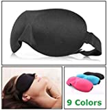 1 PCS HOT 3D Portable Soft Travel Sleep Rest Aid Eye Mask Cover Eye Patch Sleeping Mask Case Black