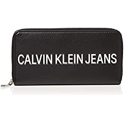 Calvin Klein SCULPTED ZIP AROUNDMujerBolsos bandoleraNegro (Black) 2.5x10x19 centimeters (B x H x T)