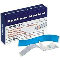 Holthaus Medical YPSITECT Fingerverband Fingerpflaster Pflaster, detektierbar, blau, wasserfest, 100St preisvergleich bei billige-tabletten.eu