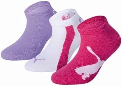 Puma 204202001 - Calcetines cortos para niños, conjunto de 3, multicolor, talla 27-30
