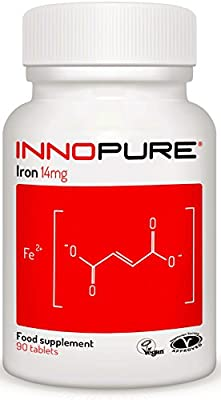 IRON Supplement For Energy & Immunity | 3 Months Supply 90 Tablets | Innopure® by Innopure®