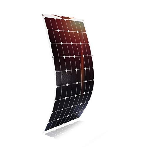 Kingsolar High Power 120W Durable ETFE Semi Flexible Solar Panel Ladegerät für Auto, Boot, Wohnwagen usw 120w Solarpanel