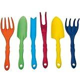 Corvus Gartenwerkzeuge 6 Stück, Mini, mehrfarbig, 28 x 10 x 6 cm, A600160