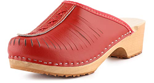 Ladeheid Zuecos Madera Crocs Sandalias Chanclas Zapatos