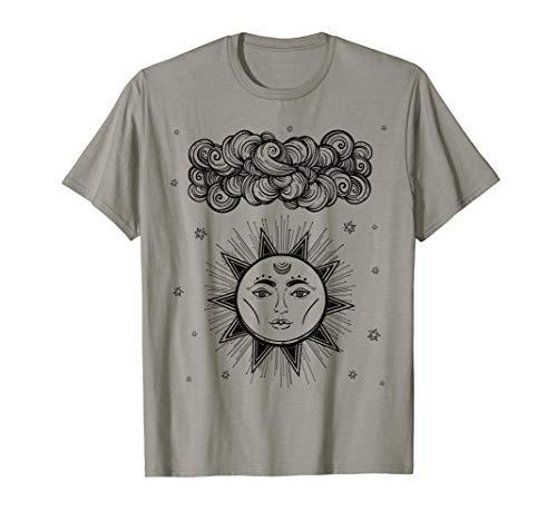 Astrologie u. Tarot-T-Shirt: Mystischer alter Sun-Gott T-Shirt