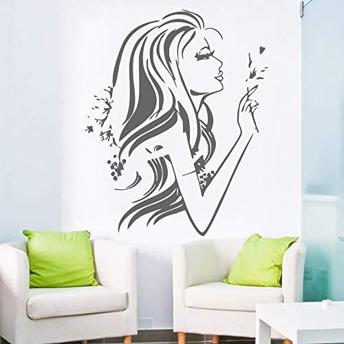 zlhcich Wandtattoo Salon Poster Schönheitssalon Friseur Maniküre Nagel Mode Aufkleber Dekor Salon Aufkleber Fensteraufkleber114 * 136 cm