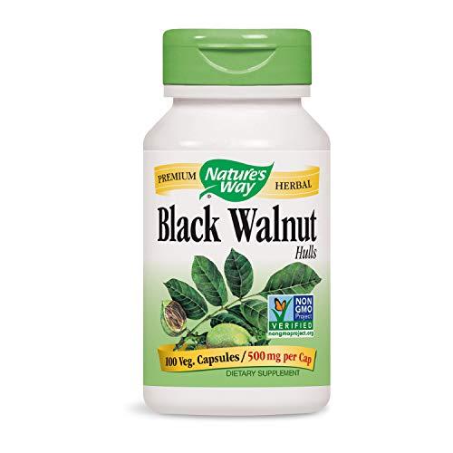 Nature's Way, Black Walnut Hulls (Schwarznussschalen), 500mg, 100 Vegetarische Kapseln