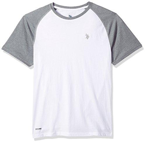 U.S. Polo Assn. Herren Performance Active T-Shirt, White/Hfdk, Groß