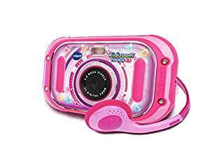 VTech Kidizoom Touch Rose - Cámara Infantil de Fotos Digital, Rosa - Versión Francesa