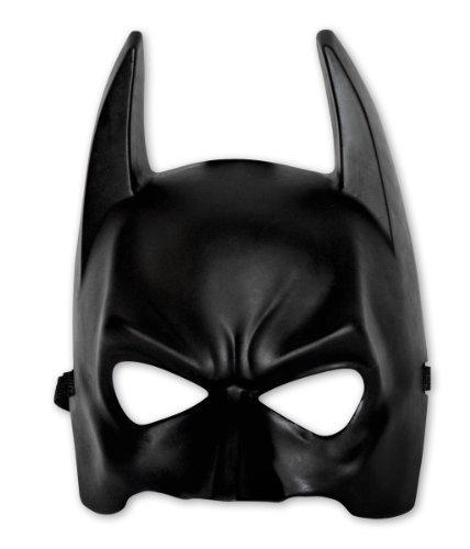 Coole Batman Maske für Erwachsene / schwarze Halbmaske aus Kunststoff in Einheitsgröße