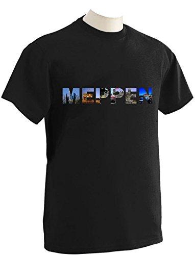 T-Shirt mit Städtenamen Meppen Schwarz