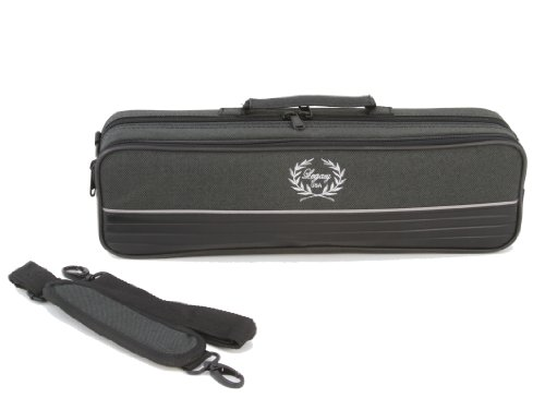 Legacy Deluxe Flute Case, Hardshell Canvas with Zippered Closure and Carry Straps -