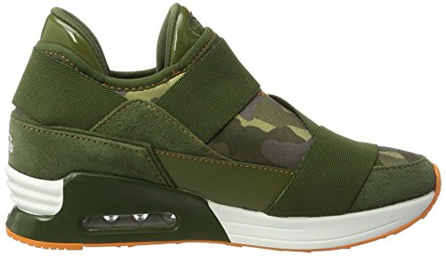 Buffalo 100-30 Neopren Suede, Sneakers Basses Femme Multicolore (Camuflage 01)