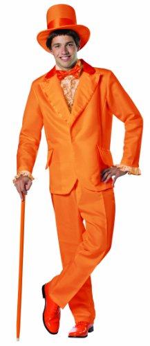 umm und dümmer Lloyd Smoking-Kostüm Weihnachten orangefarben (Standard) (Dumme Kostüm)
