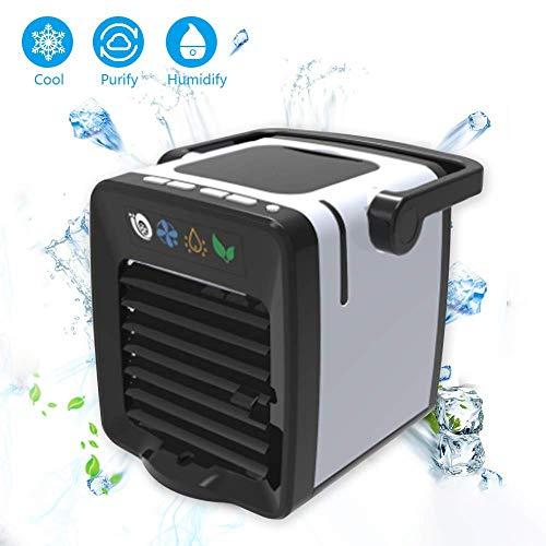 MFSU Mini-Luftkühler, Tragbarer Luftbefeuchter-Sprühlüfter, Luftbefeuchter Büro, Hotel, Küche, Schlafsaal