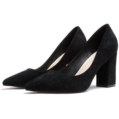 Flyrcx Printemps Et Automne Daim Noir Unique Chaussure Lady Faiblement Carrière Orteil Chaussures À Talons Hauts Chaussures De Soirée De Taille Européenne: 31-40 B