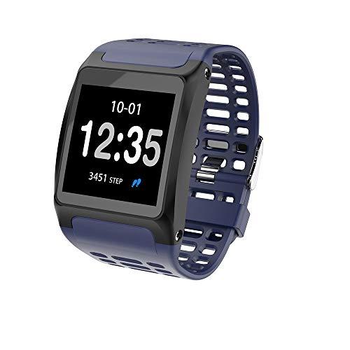 Fulltime E-Gadget Smart Watch,1,3 Zoll Pulsuhr Armband IP67 Wasserdichte Armband für iOS Android (Blau)
