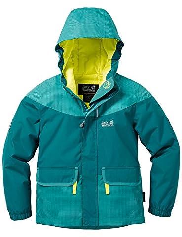 Jack Wolfskin Mädchen Glacier Bay Jacket Girls Jacke Wattiert, Dark Spruce, 140