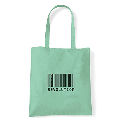 Art T-shirt, Borsa Shoulder Revolution, Shopper, Mare Menta