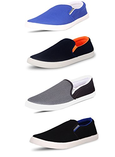 SCATCHITE Pack of 4 Footwear (Loafers & Moccasins & Sneakers & Casual Shoes)