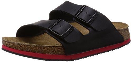 Birkenstock 230114-39 - normales Fußsbett Superlauf-schuh Arizona Birko-Flor Red/Black Größe 39 - Normales Fußbett