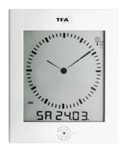 TFA Dostmann Dialog Funk-Wanduhr, 60.4506, mit Raumklima