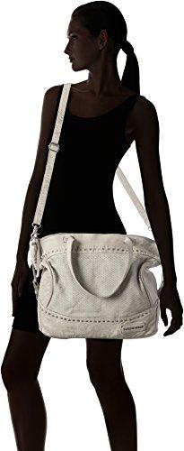 Taschendieb Damen Td0913 Schultertasche, 15 x 35 x 50 cm Beige (Offwhite)