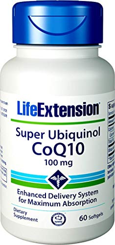 Life Extension, Super Ubiquinol CoQ10 (als Kaneka), 100 mg, 60 Kapseln, hochdosiert, ohne Gentechnik, ohne Magnesiumstearat, Coenzym Q10