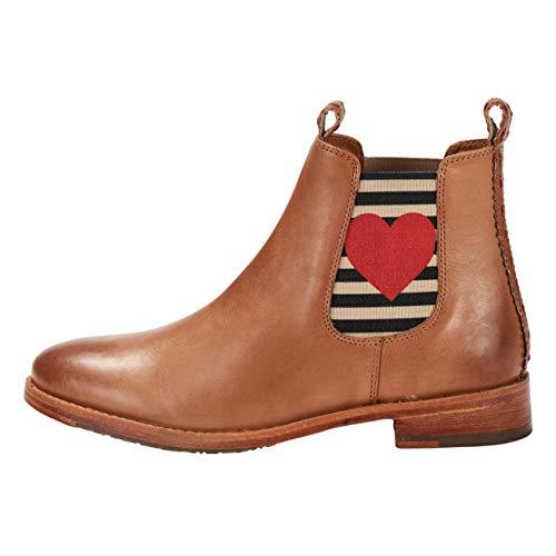 CRICKIT DLM Damen Chelsea Boot Julia mit Herz Dekorative Naht