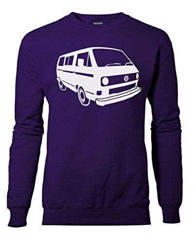 Fashion Review Veste rétro camping-car Volkswagen VW Camper Van Sweat Pull de XS à XXL Violet