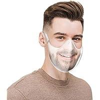 1Piezas Adulto ���������������������� duradera Escudo facial Combine ���������������������� transparente reutiliz��ble de plástico