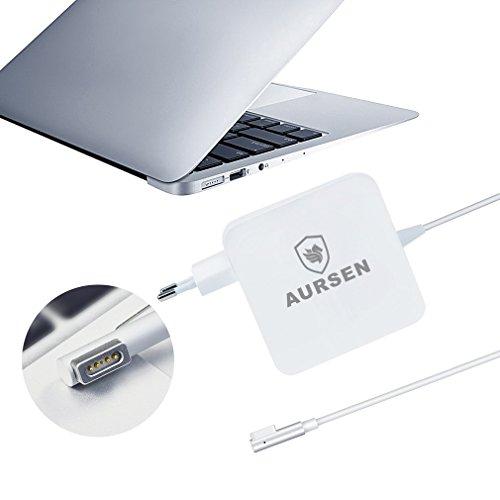 Aursen® 60W Magsafe Power Adapter, 60W Magsafe Netzteil Ladegerät L-Form Kompatibel mit Modell A1344/A1330/A1342/A1278/A1185/A1184/A1181 (Mac Netzkabel A1184)