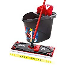 Vileda Floor mop, Black, Set
