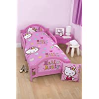 Hello Kitty Folk Girls Junior Toddler Cot Bed Set 4 in 1