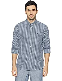 Nautica Men's Checkered Regular Fit Casual Shirt