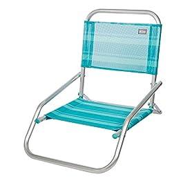 Aktive 53961 – Sedia Pieghevole Fissa Alluminio Beach 66x47x54 cm – Blu mediterraneo