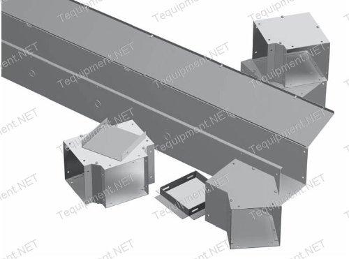 Hammond Manufacturing CWST624 STRAIGHT SECTION KO 6X6X24