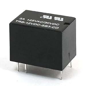 DC 12V Coil Volt 6broches Double unipolaire Throw Plug-in groupe électrogène